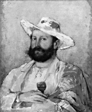 Portrét od Václava Brožíka z roku 1876.