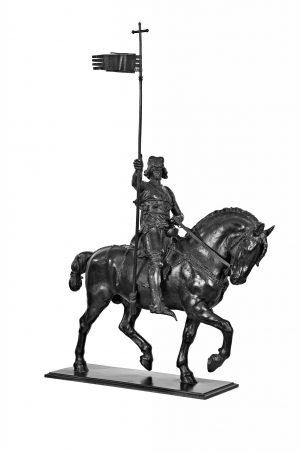 Myslbekův model k pomníku sv. Václava z roku 1888. Původní model prošel mnoha změnami. © GHMP