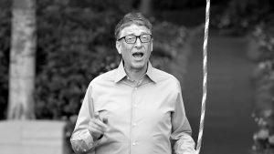 Bill Gates si postavil vlastní polévací konstrukci.
