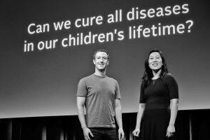 1. prosince 2015 založil zakladatel Facebooku Mark Zuckerberg se svou ženou Priscillou Chan dobročinnou společnost sručením omezeným Chan Zuckerberg Initiative. Dále se zavázali, že během života věnují 99 procent akcií Facebooku nadobročinnost.
