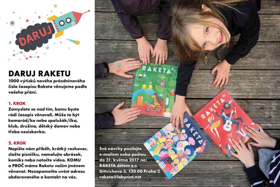 """<span class=""""entry-title-primary"""">Daruj RAKETU – výzva dětem</span> <span class=""""entry-subtitle"""">text: Naďa Straková foto: Archiv</span>"""